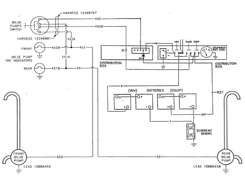 bilge pump schematic  m981a3 only
