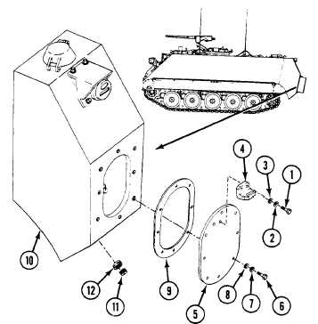 Replace Fuel Tank Access Covers And Drain Plugs All Except M577a3