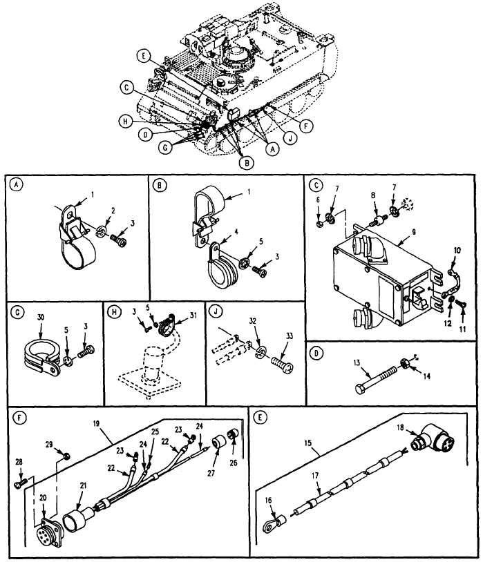 Figure 140 Electrical Wiring Harness Components And Mounting